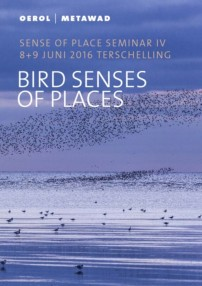 Omslag programma boekje Bird Senses of Places
