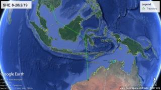 Oriental Pratincole SHE 8/2 to 1/3/19. Map: AWSG