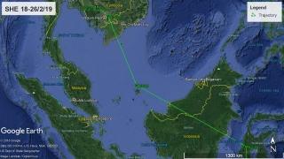 Oriental Pratincole SHE heading to Pursat Province, Cambodia. Map: AWSG